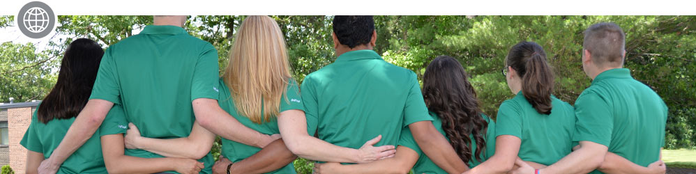 UniFirst employees arm in arm