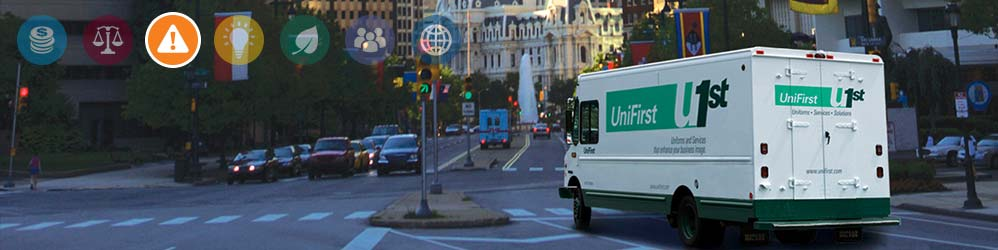 UniFirst delivery van